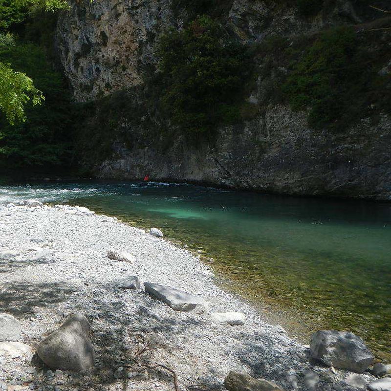 PLage de l'arrivée des activités d'eau vive