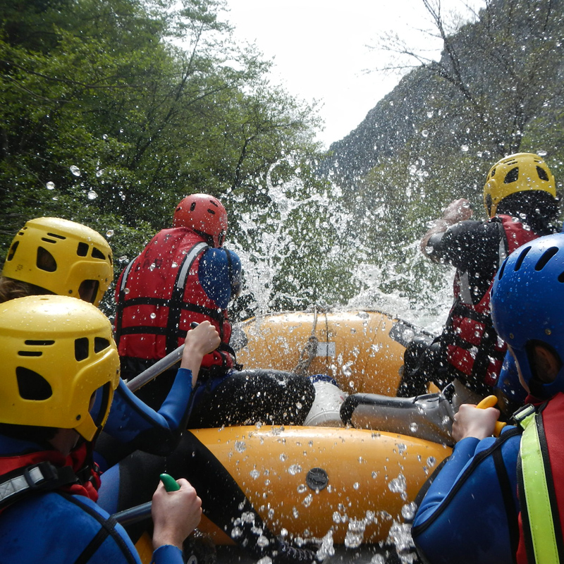 Embarcation de Rafting en Roya