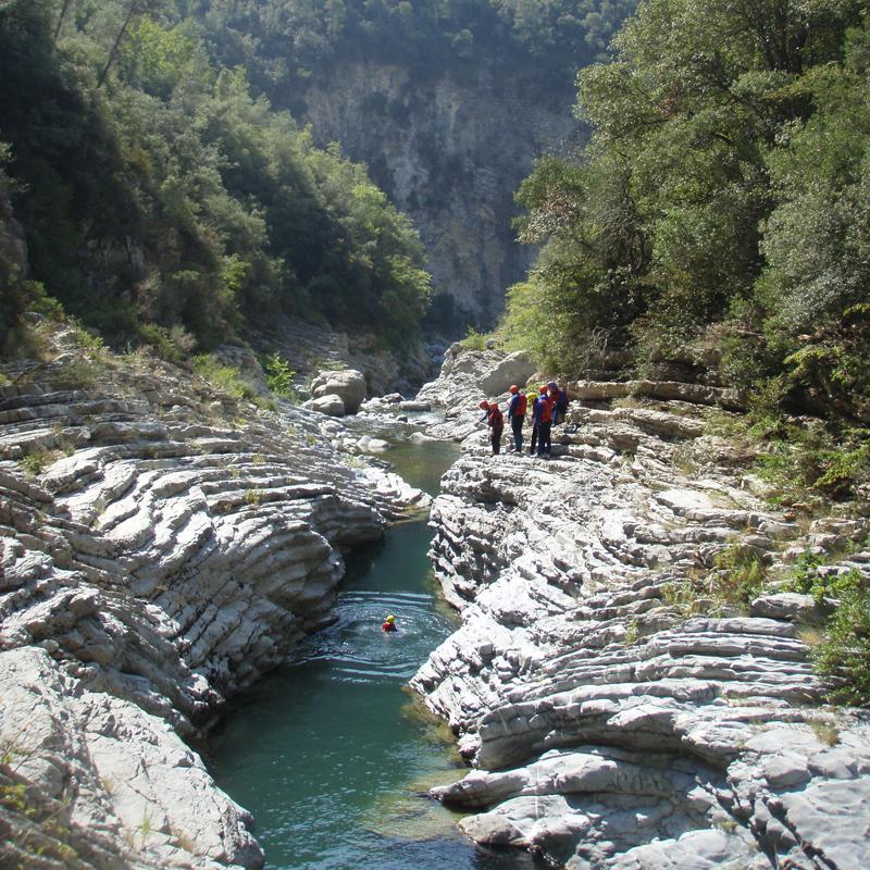 Canyon de randonnée aquatique